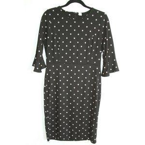 Old Navy Polka Dot Flutter Sheath Dress Black